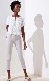 Petite Modern Frayed Skinny Crop Jeans