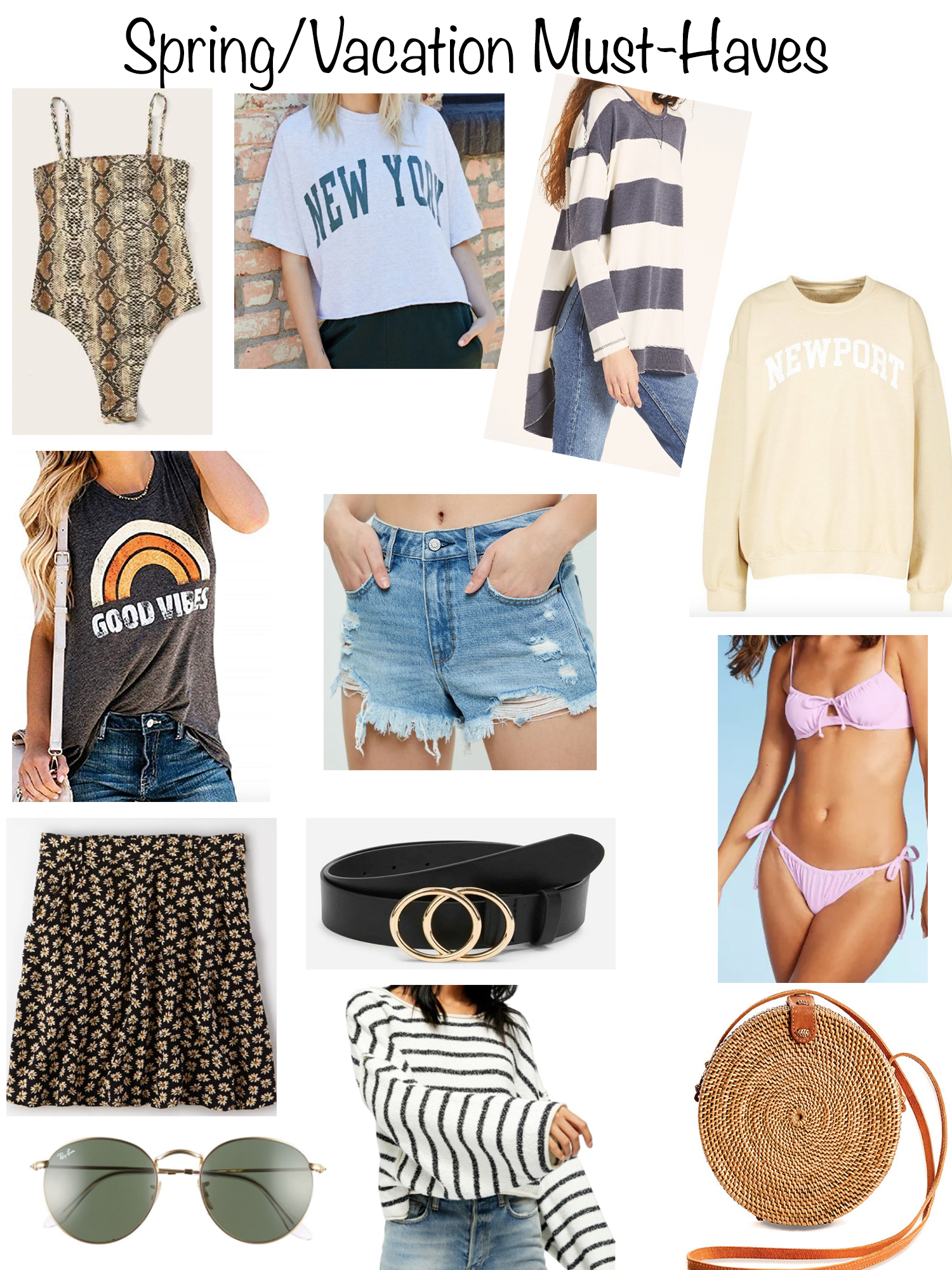 Spring Vaca Must Haves